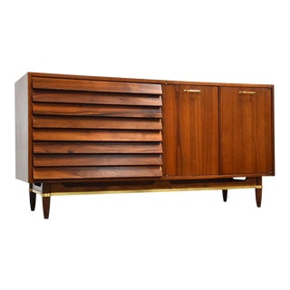 American of Martinsville Walnut Dresser by Merton Gershun For Sale