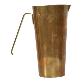 Mid Century Modern Brass Pitcher Lino Sabattini For Sale