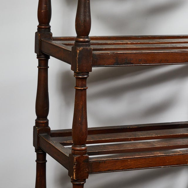 Tall Country Oak Étagère With Six Slated Shelves For Sale - Image 4 of 6