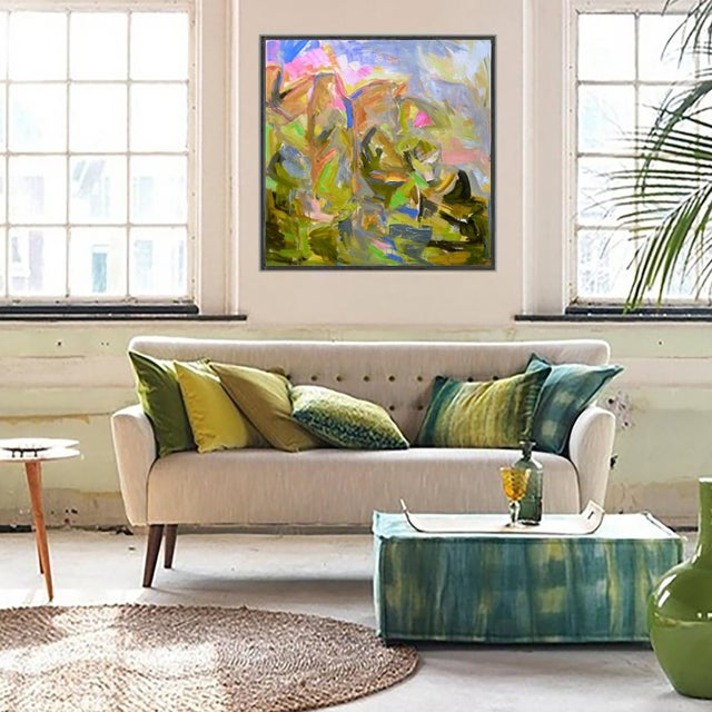 """""""Mountain Falls"""" by Trixie Pitts Large Abstract Oil Painting For Sale In Nashville - Image 6 of 8"""