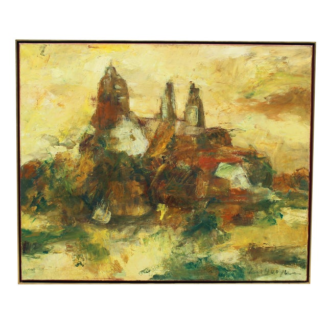 Hugo Paul Ten Houpen Painting - Yellow Towers - Image 1 of 8