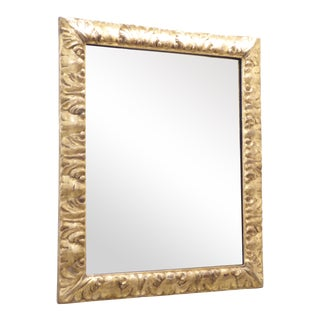 18th Century Italian Carved Giltwood Mirror For Sale