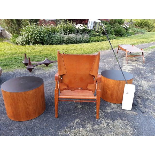 Vintage Mid Century Wilhelm Kienzle for Wohnbedarf Style Safari Chairs- a Pair For Sale - Image 10 of 11