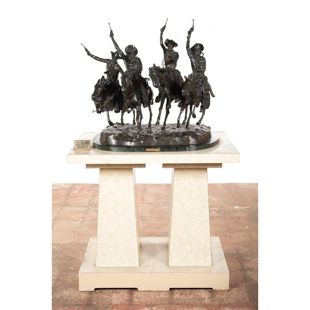 "F. Remington ""Coming Through the Rye"" Bronze Sculpture - Image 3 of 11"