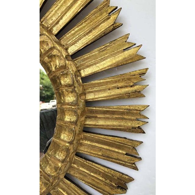 French Gilt Starburst or Sunburst Mirror (Diameter 21) For Sale In Austin - Image 6 of 9
