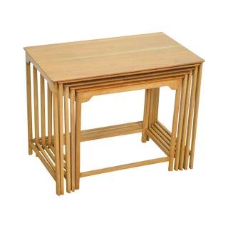 Dunbar Edward Wormley Mid Century Modern Walnut Nesting Tables For Sale