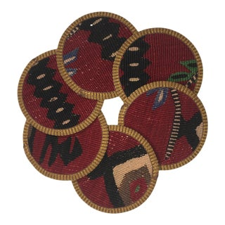 Rug & Relic Emel Kilim Coasters - Set of 6