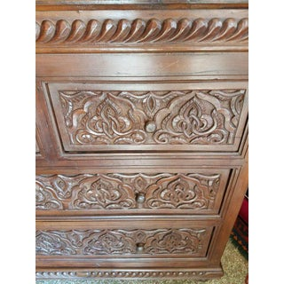 Moroccan Carved Wooden Cabinet Preview
