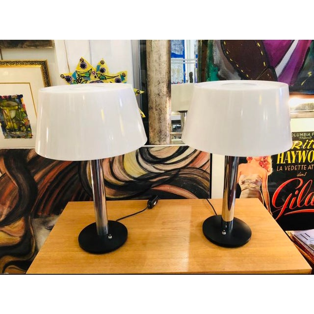 Vintage 1960s Lightolier Lamp by Gerald Thurston - a Pair For Sale - Image 9 of 9