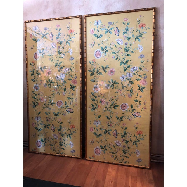 1970s Vintage Framed Gracie Wallpaper Panels - A Pair For Sale In Tampa - Image 6 of 13