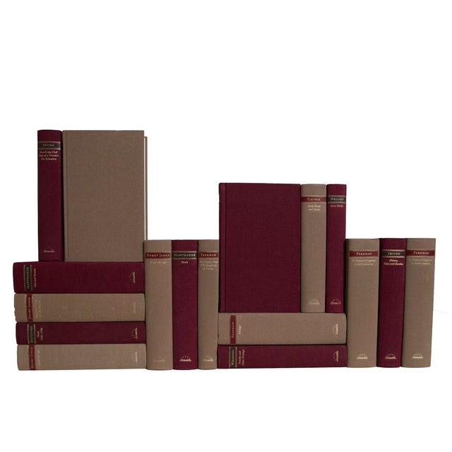 Transitional Maroon & Brown Classics Book Set - Set of 17 For Sale - Image 3 of 3