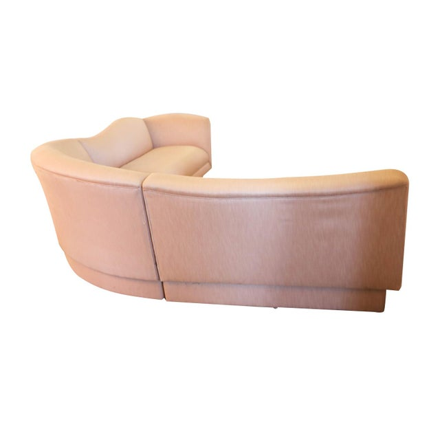 Stunning mid-century modern three-piece sectional sofa perfectly designed in the style of Vladimir Kagan for Directional....