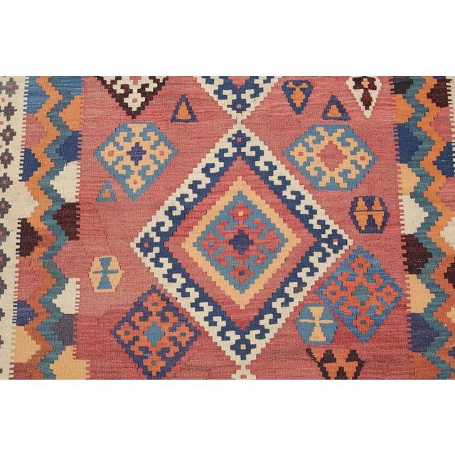 Antique Persian Gashghaie Kilim Rug- 4′10″ × 8′8″ - Image 2 of 4
