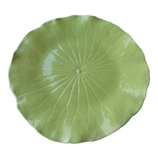 """Mid Century Newell Stevens Chartreuse Plates 12"""" For Sale"""
