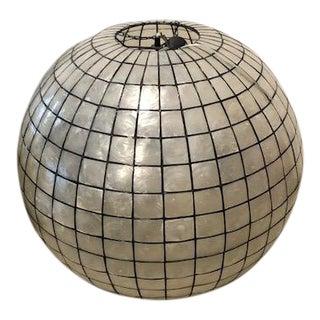 Capiz Shell Globe Light Fixture