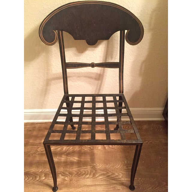 Designer Metal Accent Chair - Image 4 of 11