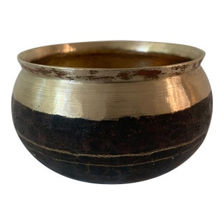 Vintage Brass Catchall Pot For Sale
