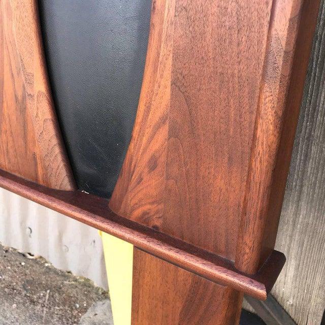 Mid-Century Modern Mid-Century Modern Walnut Headboard After Glenn of California Full Size For Sale - Image 3 of 7