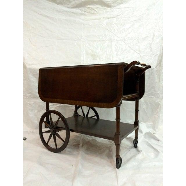 Walter of Wabash Drop-Leaf Bar Cart - Image 2 of 10