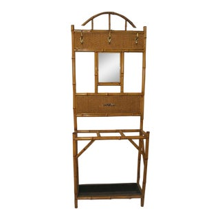 1900s English Bamboo Hallstand For Sale