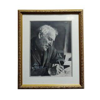 Portrait of Marc Chagall - Original 8x10 Photograph -Signed -C1960s For Sale