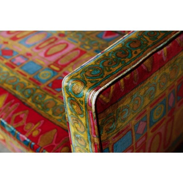 Edward Wormley Dunbar sofa with original Jack Lenor Larsen upholstery For Sale - Image 9 of 11