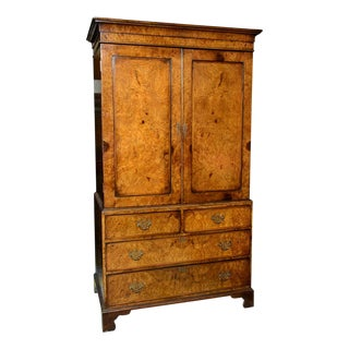 Burl Walnut Cabinet For Sale