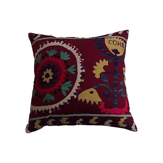 Turkish Suzani Pillow - Image 1 of 5