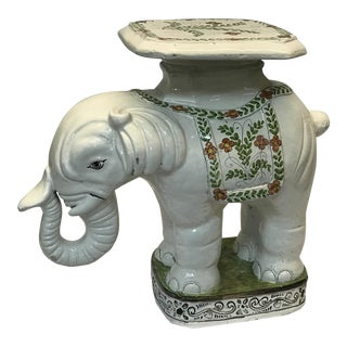 Vintage Elephant Garden Stool For Sale