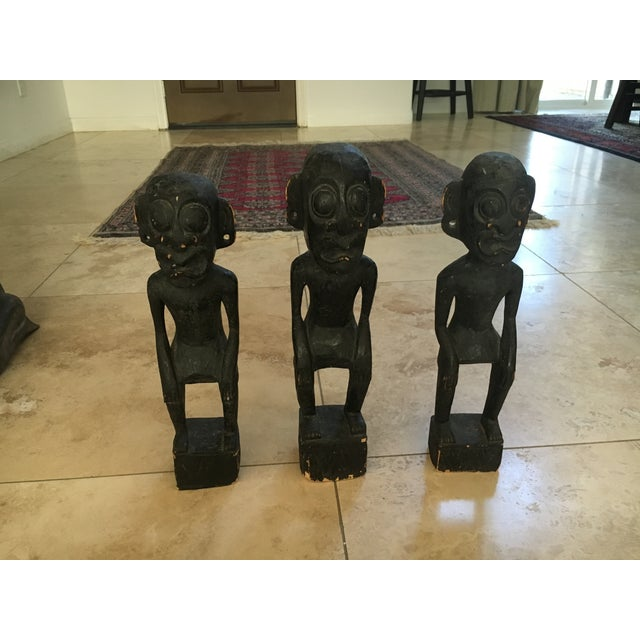 Balinese Wooden Figurines - Set of 7 - Image 7 of 11