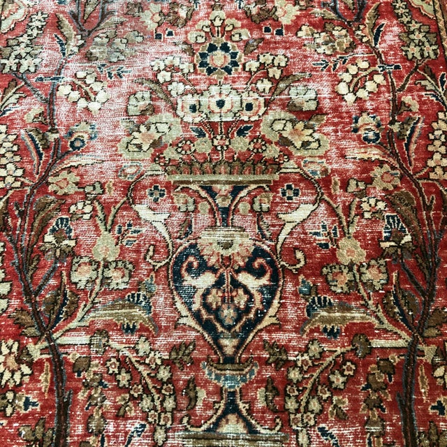 Persian Middle Eastern 1930s Hand Knotted Wool Rug For Sale - Image 3 of 10