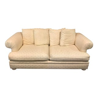 Modern Traditional Style White Fabric Couch For Sale