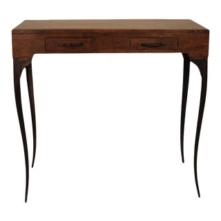 Melange Wooden Console Table With Cabriole Legs For Sale