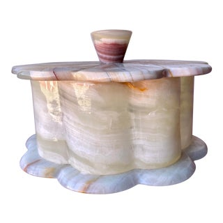 Beige Marble Keepsake Box For Sale