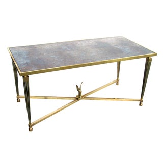 Stylish and Good Quality French Mid-Century Neoclassical, Brass Coffee Table For Sale