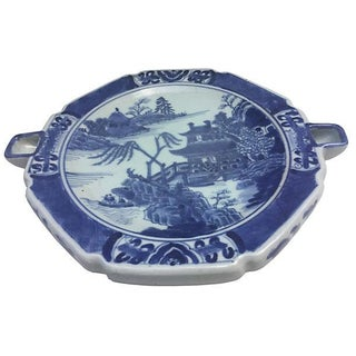 Old Blue Willow Warming Dish For Sale