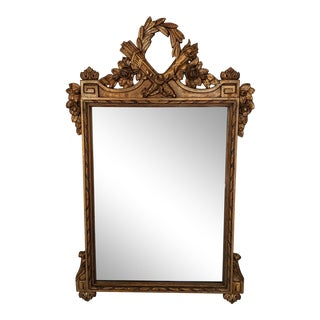 1920s French Louis XVI Style Gilt Wood Mirror For Sale
