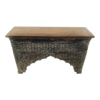 Carved Wood Raja Console
