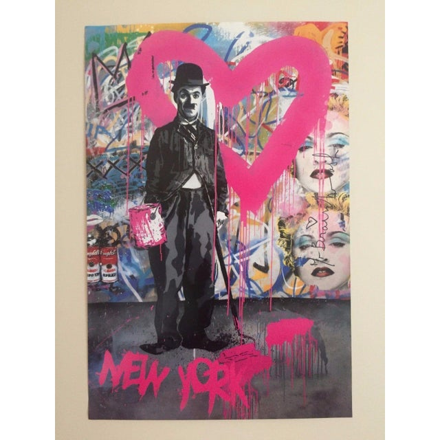 """This original lithograph print poster by the world famous French born and Los Angeles based """" Mr. Brainwash """" is a name..."""