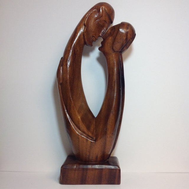 Mid-Century Carved Sculpture - Image 5 of 9