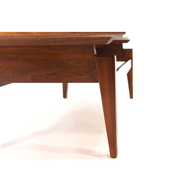 Jens Risom Design Mid-Century Modern Jens Risom Walnut Coffee Table For Sale - Image 4 of 5