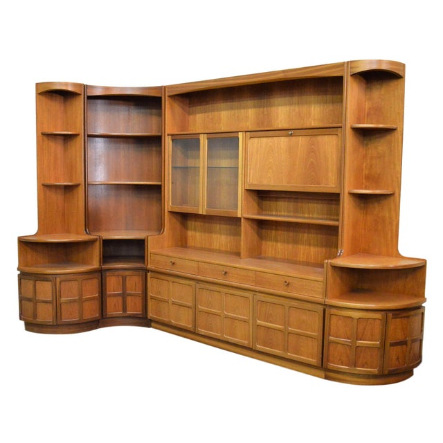 Mid Century Teak Wall Unit By Nathan Furniture - Image 11 of 11