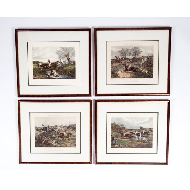 Antique Hand Colored Forest's Steeple Chase Scenes Lithographs - Set of 4 For Sale - Image 13 of 13