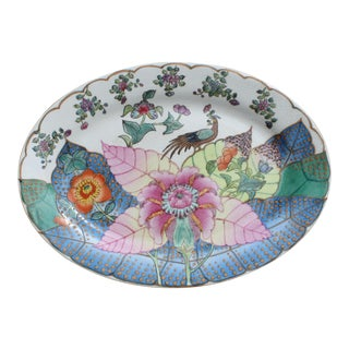 Vintage Tobacco Leaf Oval Platter For Sale