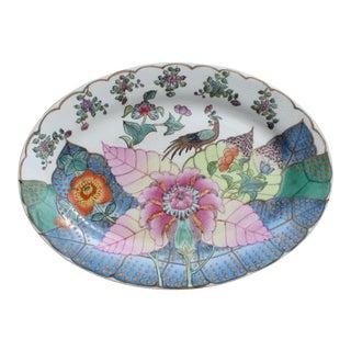 Vintage Tobacco Leaf Oval Platter For Sale