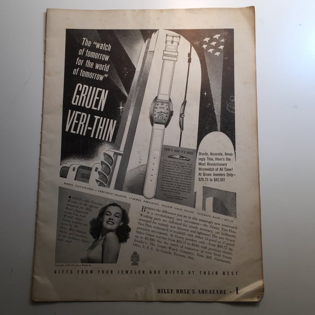 1939 New York World's Fair Gruen Watch Ad - Image 2 of 4