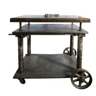 20th Century Industrial 3-Tier Metal Side Table