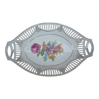 Early 20th Century Antique China Bread Basket For Sale