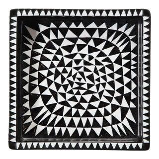Geometric Ceramic Ashtray by Stig Lindberg For Sale