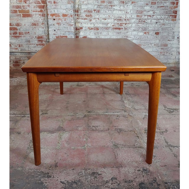 Danish Mid-Century Teak Dining Table W/6 Chairs by Koefoeds Hornslet For Sale - Image 4 of 12
